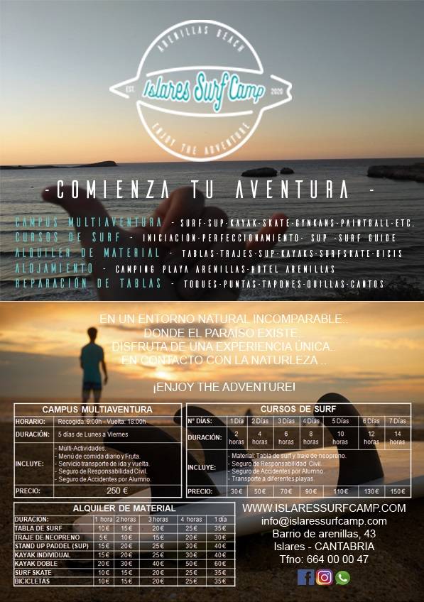 cartel islares surf camp verano 2020